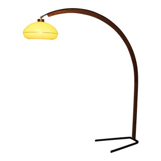 1970's Bentwood Arc Lamp