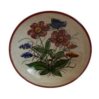 Vintage Graf German Hand-Crafted Crackle Art Pottery Bowl