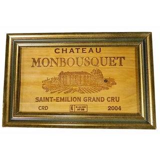 French Framed Grand Cru Wine Panel
