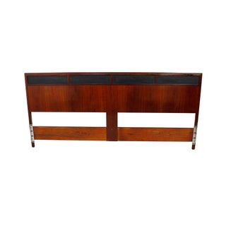 Mid Century Modern King Size Walnut Headboard