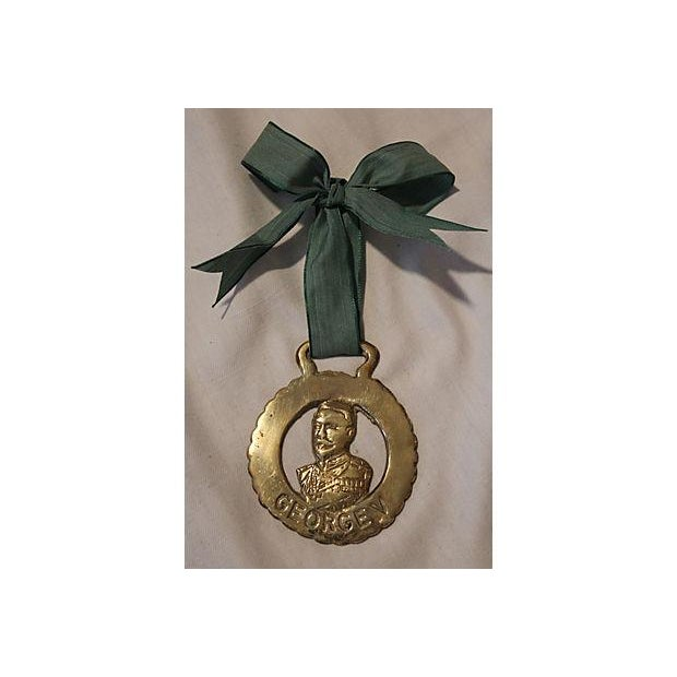 1911 King George V Coronation Brass Horse Ornament - Image 2 of 3