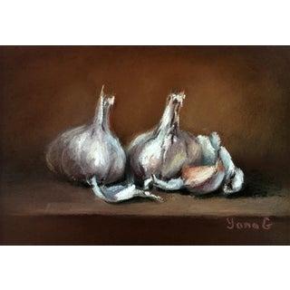 Garlic Original Still Life Pastel Painting