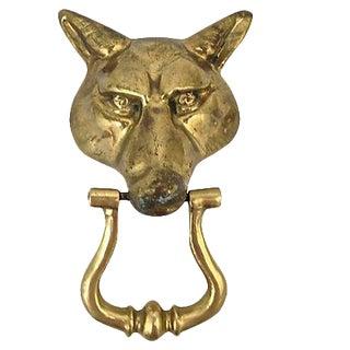 Brass Wolf Head Door Knocker