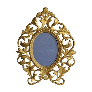 Rococo-Style Gilt Brass Photo Frame