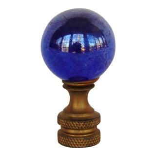 Dark Blue Glass Ball Lamp Finial