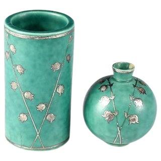 Wilhelm Kage for Gustavsberg Swedish Art Deco Small Vases - Pair