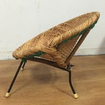 Image of Wicker and Wrought Iron Child's Chair