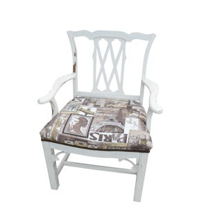 Shabby Chic Chippendale Style Captains Chair