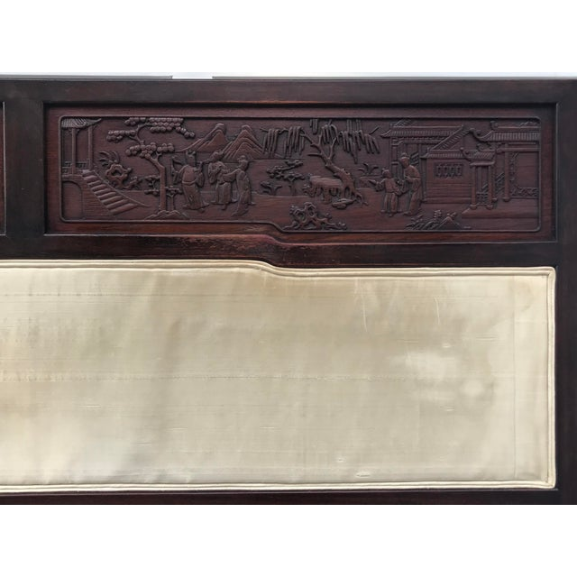 Antique Carved Asian Twin Headboard - Image 2 of 5