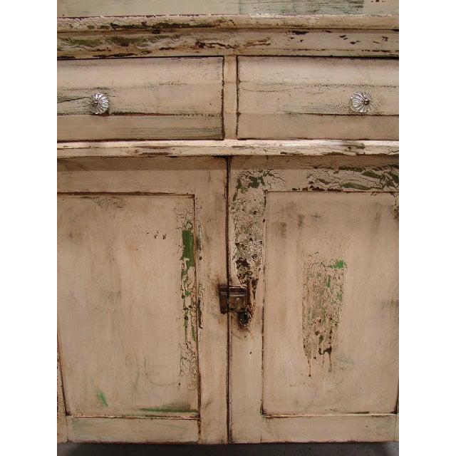 Primitive Painted Antique Dresser Chest Cupboard - Image 4 of 5