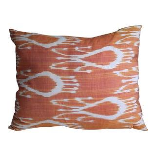 Silk Ikat Burnt Orange Pillow