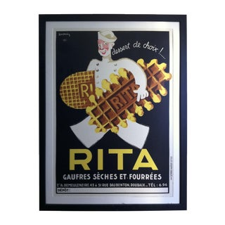 Rita Gaufres Framed French Art Deco Ad Print