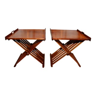 Stewart MacDougall Campaign Folding Tables - a Pair