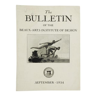 The Bulletin of the Beaux-Arts Institute of Design 1934