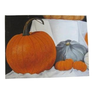 Fall Sill Life Pumpkin Painting