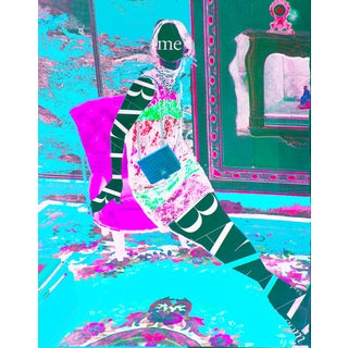 'Lap of Luxury' Blue & Pink Fashion Print