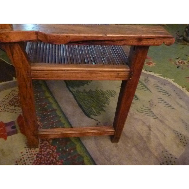 Reclaimed Tucker Robbins Exotic Wood Bench - Image 8 of 10