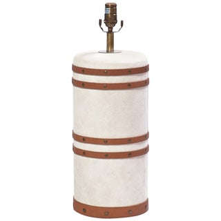 Canvas Barrel Table Lamp