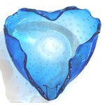 Image of Murano Blue Three Sided Bowl
