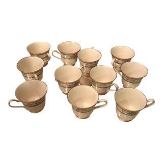 Noritake Ivory China Amenity Pattern Cups - Set of 12