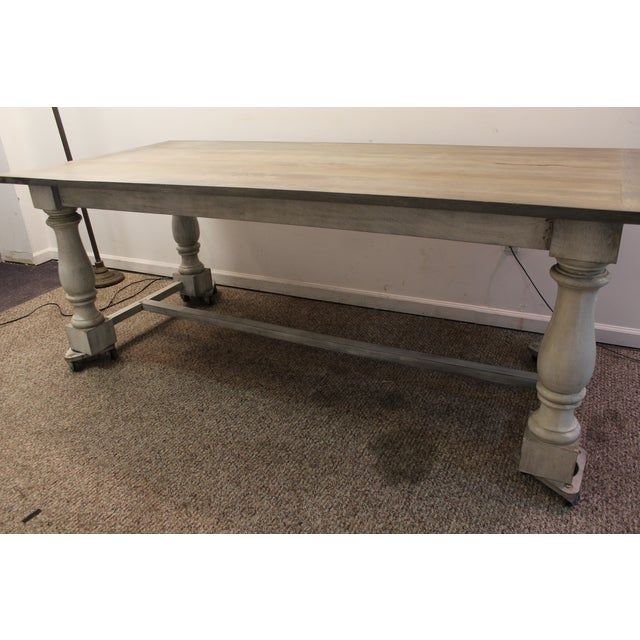 Primitive French Country Dining Table - Image 11 of 11