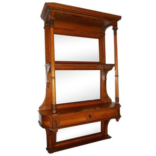 Antique Portois & Fix Wien Hanging Bookshelf