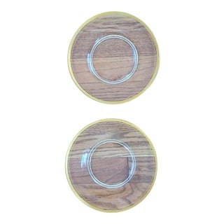 Glass Gold Rimmed Plates - A Pair