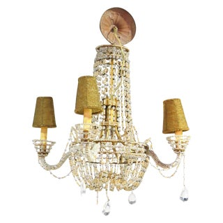 Petite French Empire Style Beaded Chandelier