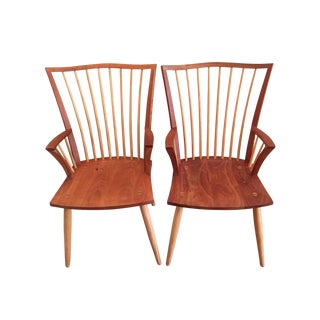 Thomas Moser Catena Arm Chairs - A Pair
