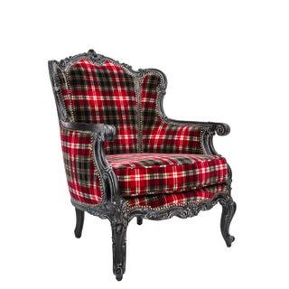 Victorian Jean Paul Gaultier Velvet Wingback Chair
