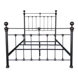 Queen Size Wrought Iron Cannon Ball Style Bed by Gabrielli