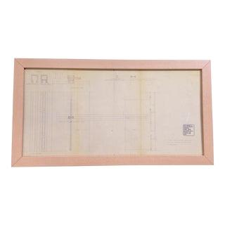 Finn Juhl Lock mechanism framed draft