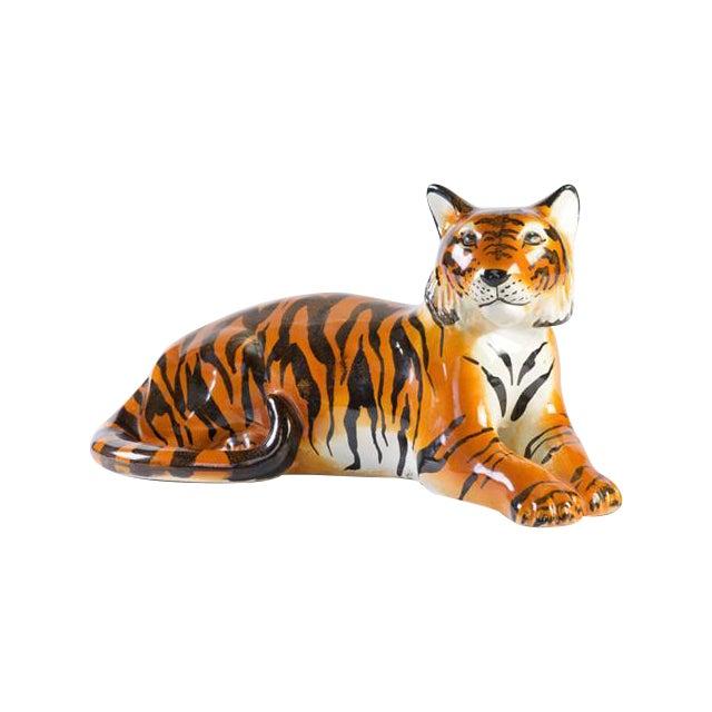 Italian Ceramic Tiger - Image 1 of 6