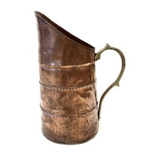 Antique Solid Copper & Brass Pitcher