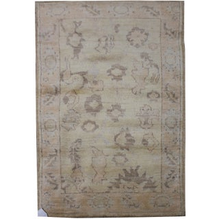 "Aara Rugs Inc. Hand Knotted Oushak Rug - 4'7"" X 3'0"""