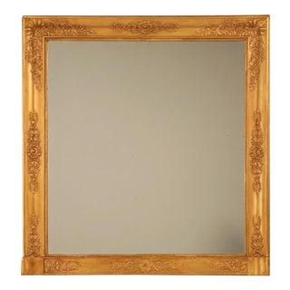 Amazing Restored Large Square Antique French Gilt Mirror