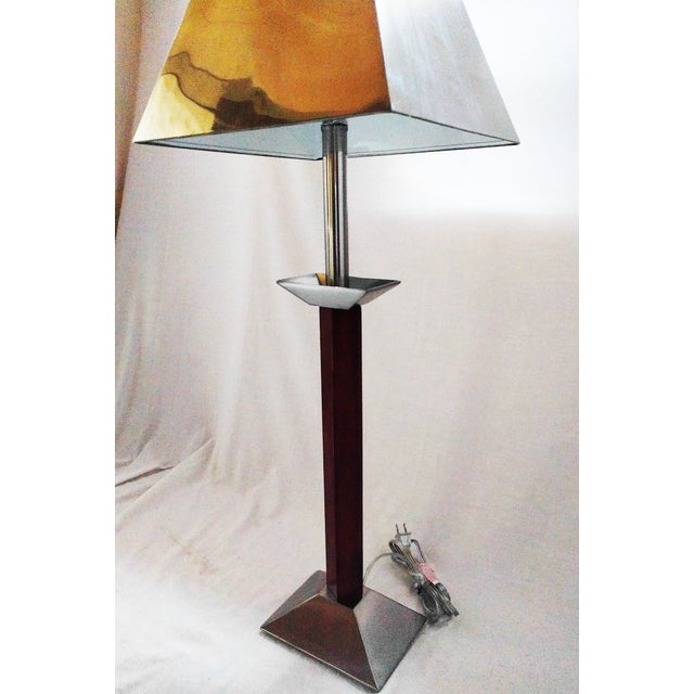 Wood & Metal Lamp with Spear Finial - Image 3 of 3