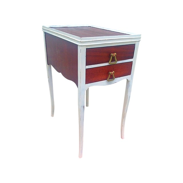 Vintage Table Hardware : Antique end table with anthropologie hardware chairish