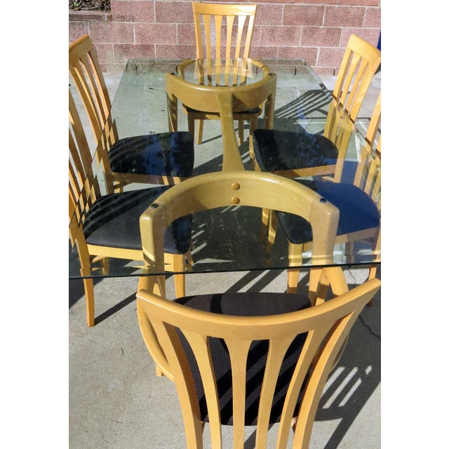A Sibau Vintage Modern Dining Set With 6 Chairs Chairish
