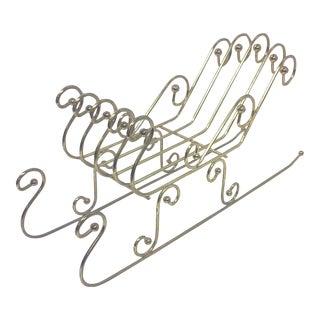 Vintage Brass Sleigh Figure