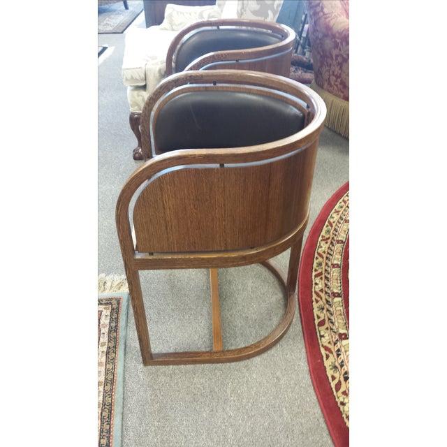 Lignum Vitae & Leather Chair - Image 3 of 5