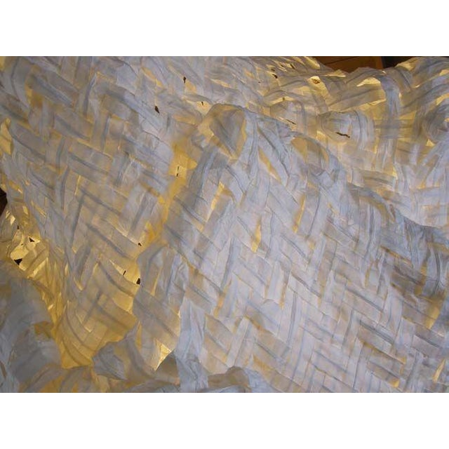 Gigantic Freeform Handwoven Paper Ceiling Light - Image 7 of 7