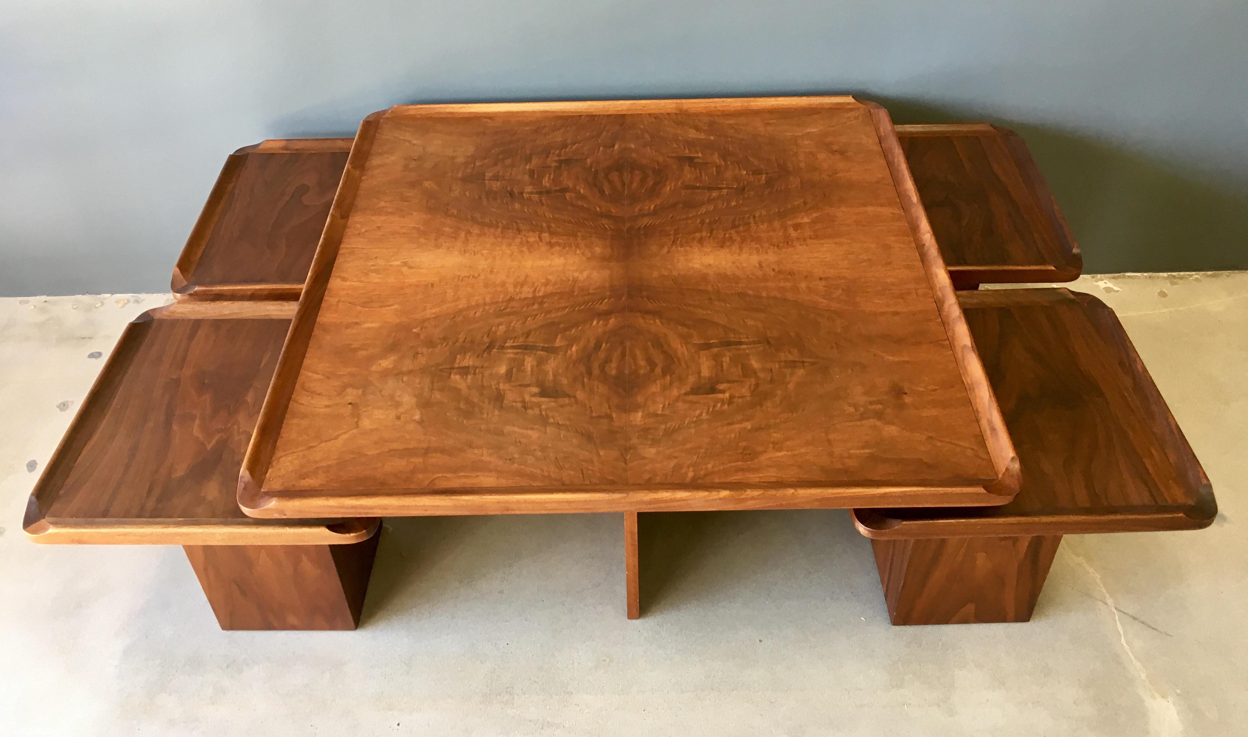 Brown Saltman Mid Century Coffee U0026 Nesting Tables   5 Pieces   Image 5 Of