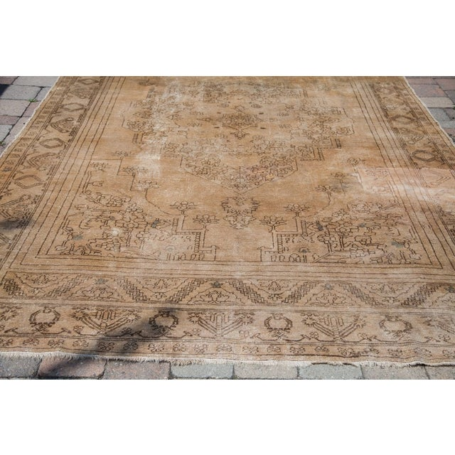 "Vintage Oushak Carpet - 6'10"" x 11'2"" - Image 4 of 6"