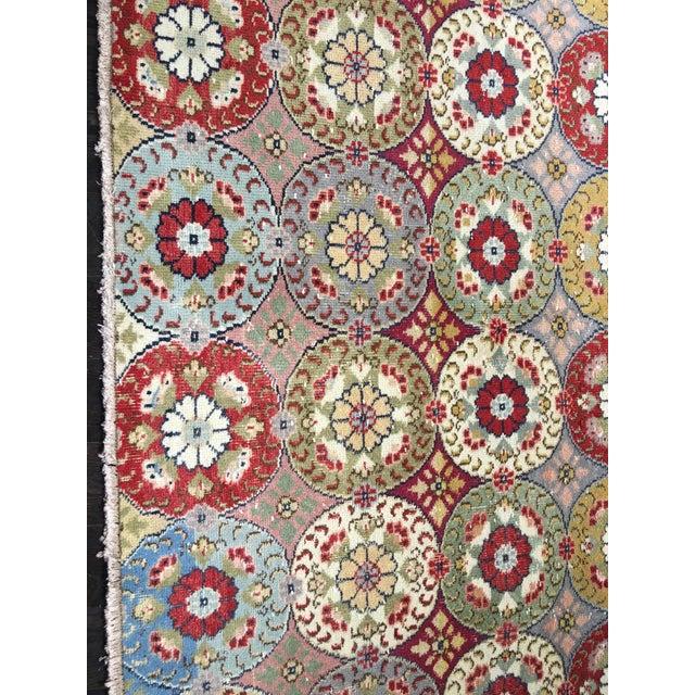 "Bellwether Rugs Vintage Turkish Zeki Muren Rug - 5'9""x9'4"" - Image 4 of 9"
