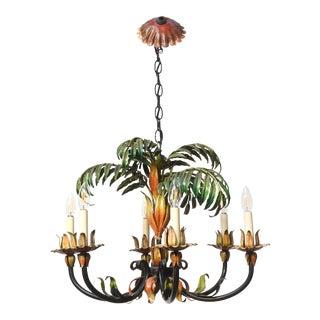 Italian Palm Tole Chandelier