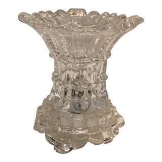 Small Flared Cut Glass Lamp