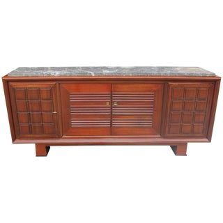 Masterpiece French Art Deco Solid Mahogany Sideboard / Buffet by Maxime Old Circa 1940s.