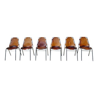 1960s Vintage Charlotte Perriand Les Arcs Chairs - Set of 6