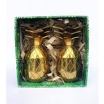 Image of The Pineapple Co. Brass Shot Glasses - A Pair